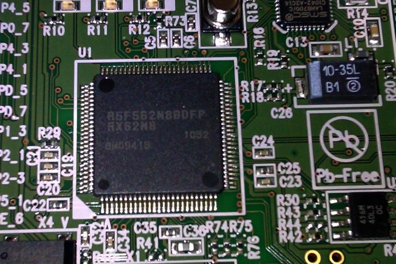 Renesas RPBRX62N RX62N Chip detail